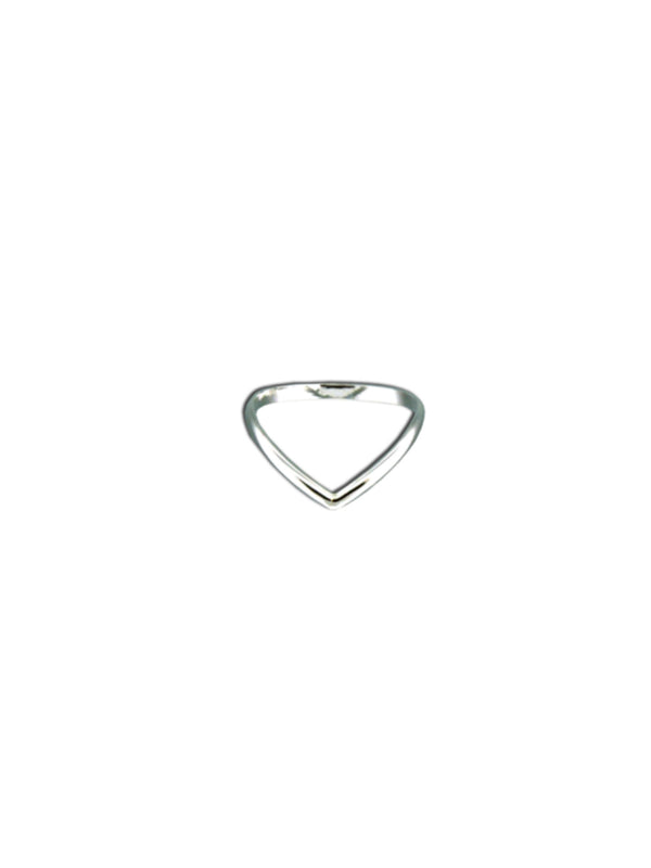 Chevron Ring | Sterling Silver Band Size 5 6 7 8 9 10 | Light Years