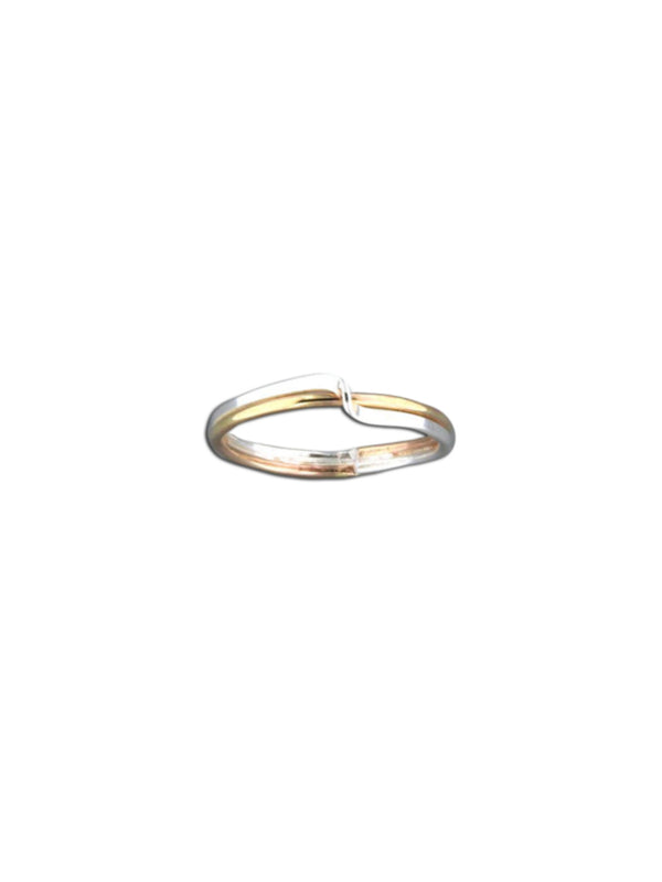Mix Metal Twist Ring | Sterling Silver Gold Fill 6 7 8 9 10 | Light Years