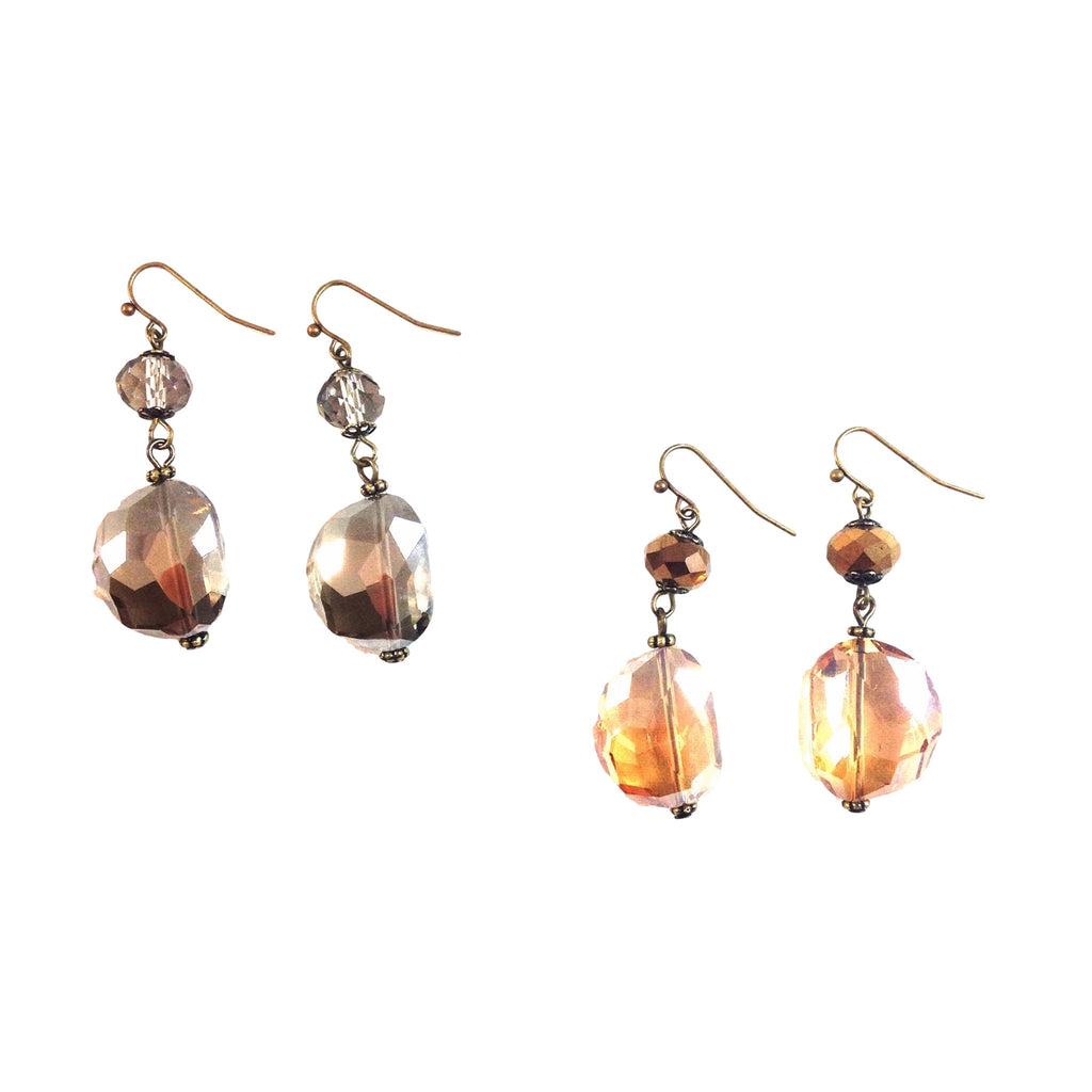 Short Shadow Crystal Earrings, $10 | Fashion | Light Years Jewelry