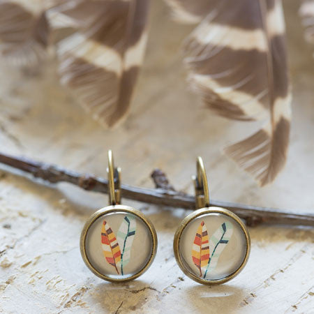Beijo Brasil Two Feathers Earrings, $14 | Light Years Jewelry