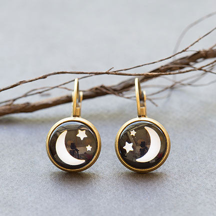 Beijo Brasil Moon and Stars Earrings, $14 | Light Years Jewelry