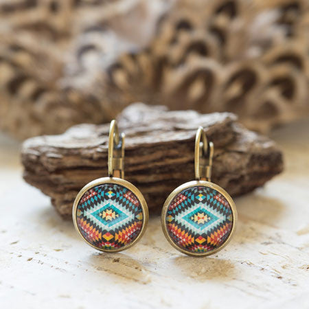 Beijo Brasil Native American Print Earrings, $14 | Light Years Jewelry