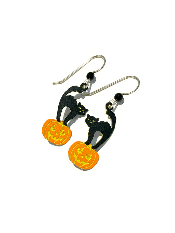 Halloween Cat Dangles Sienna Sky | Sterling Silver Earrings | Light Years