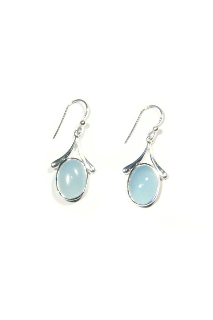 Blue Chalcedony Dangles, $32 | Sterling Silver | Light Years Jewelry