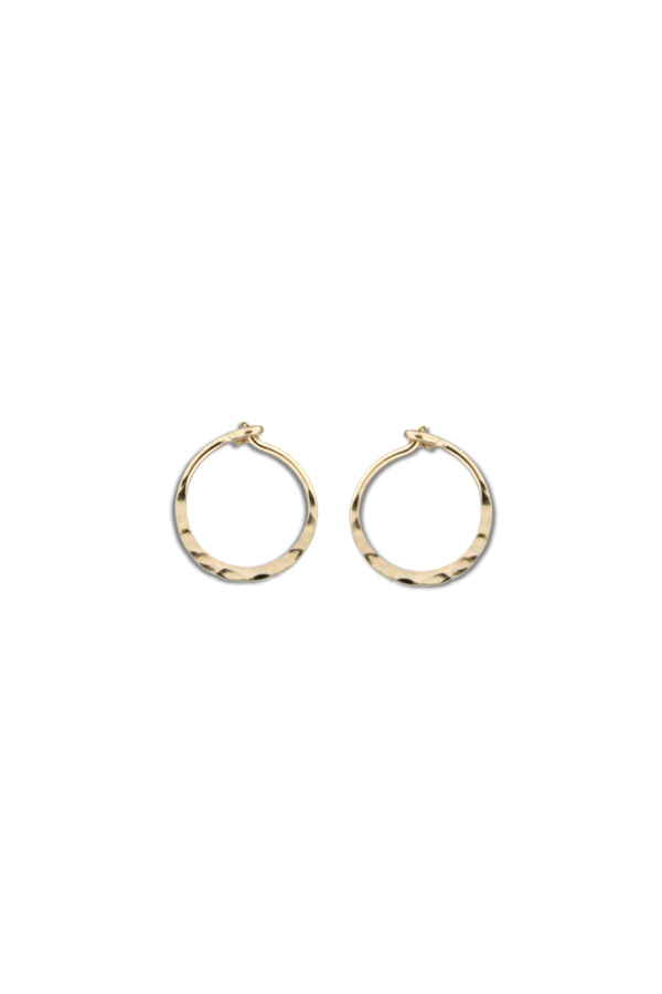 Gold Filled Hammered Hoops | 14kt Gold Earrings | Light Years Jewelry