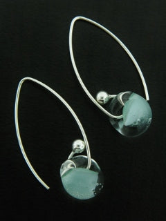 Sky Blue Glass Drops | Sterling Silver USA Glass | Light Years Jewelry