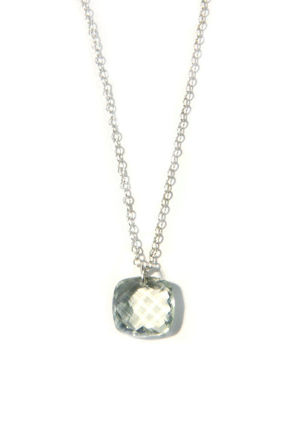 Prasiolite Necklace, $40 | Sterling Silver Pendant & Chain | Light Years