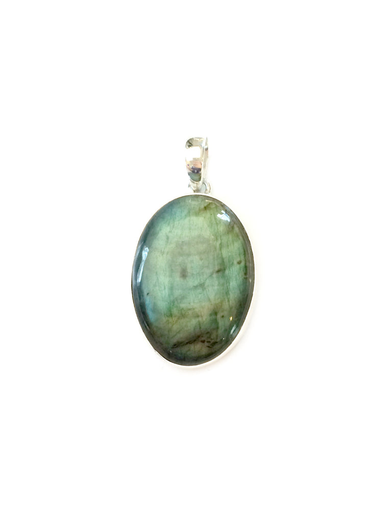 Oval Labradorite Pendant | Sterling Silver Stones | Light Years Jewelry