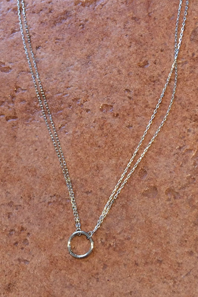 Double Chain Circle Necklace, $21 | Sterling Silver | Light Years Jewelry
