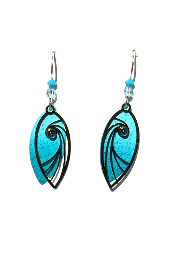 Aqua Swirl Earrings by Adajio | Sterling Silver USA Made | Light Years