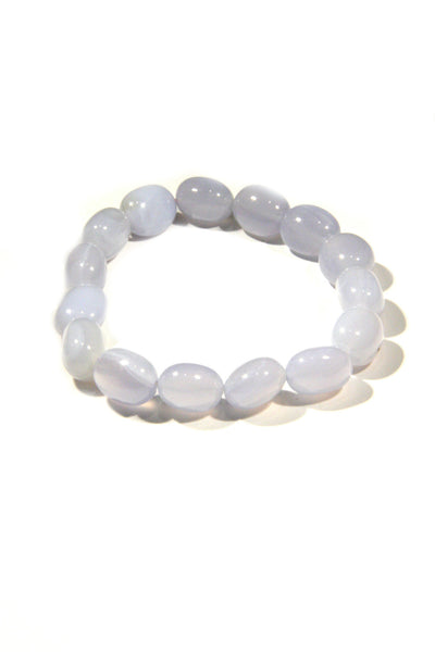 Blue Lace Agate Beaded Bracelet, $16 | Light Years Jewelry