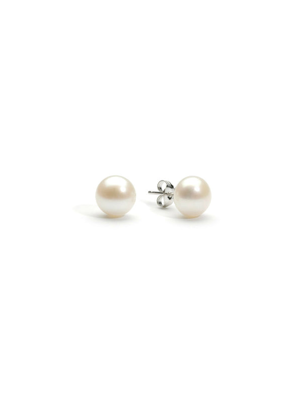 Freshwater Pearl Posts | Sterling Silver Stud Earrings | Light Years