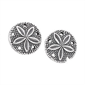 Sand Dollar Post Earrings | Sterling Silver Stud | Light Years Jewelry