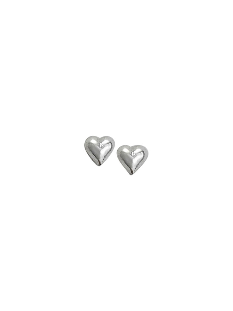 Small Puff Heart Posts | Sterling Silver Studs | Light Years Jewelry