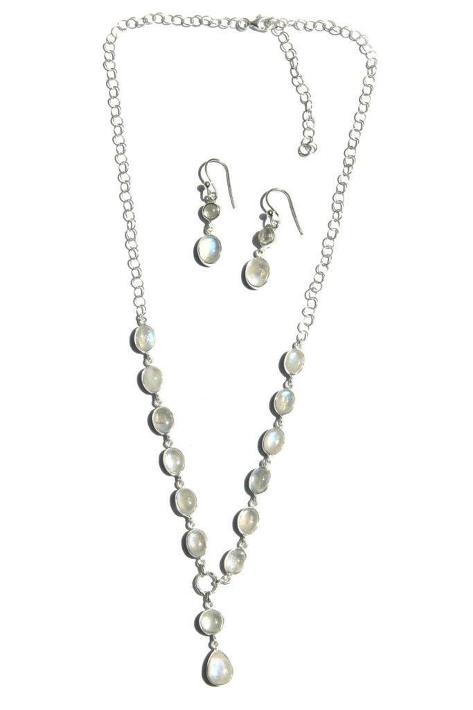 Moonstone Set, $88 | Necklace and Earrings | Light Years Jewelry