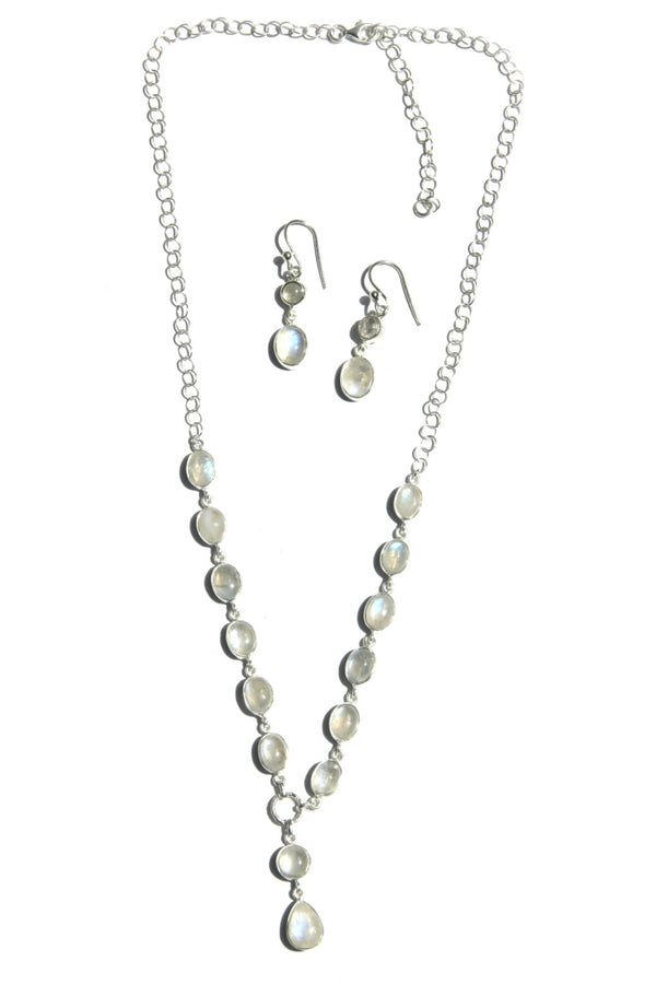 Elegant Moonstone Set, $88 | Necklace & Earrings | Light Years Jewelry