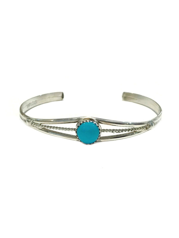 Classic Turquoise Cuff Bracelet | Sterling Silver Navajo | Light Years