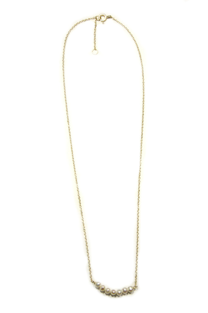Row of Pearls Necklace, $24 | Gold Vermeil | Light Years Jewelry