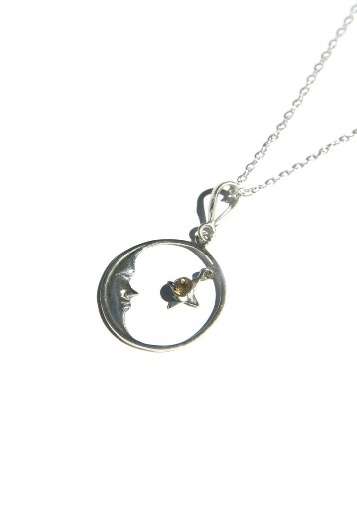 Moon and Stone Pendant, $24 | Sterling Silver Necklace | Light Years