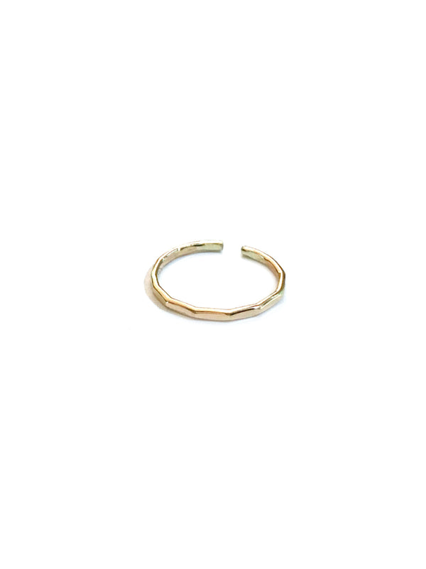 Hammered Gold Toe Ring