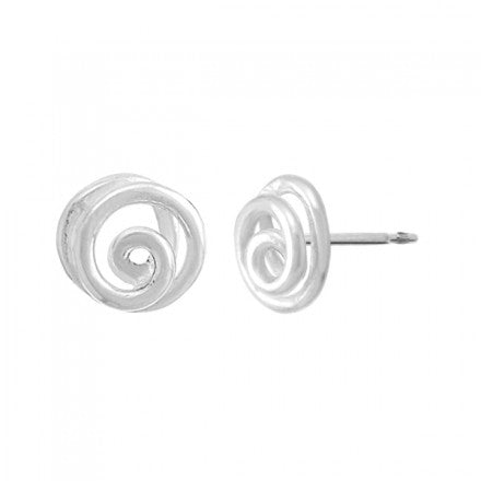 3D Spiral Studs, $11 | Sterling Silver Earrings | Light Years Jewelry