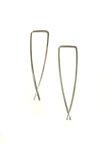 Angled Ear Threads | Gold Vermeil Sterling Silver | Light Years Jewelry
