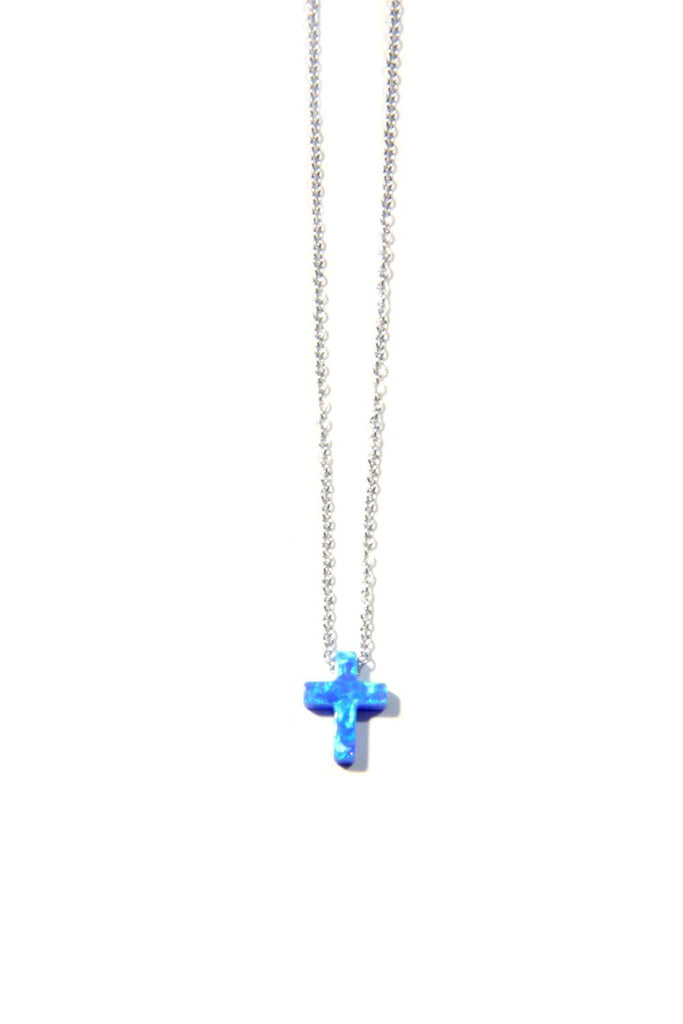 Opal Cross Necklace, $21 | Gold or Silver | Light Years Jewelry