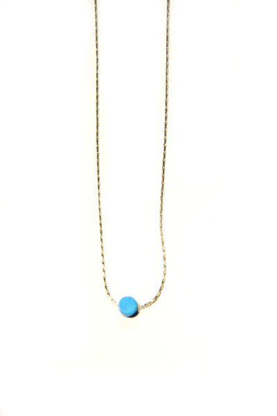 Stone Disc Necklace, $12 | Gold Plated | Light Years Jewelry
