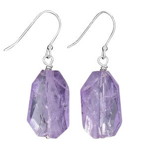 Amethyst Nugget Drops, $17 | Sterling Silver | Light Years Jewelry