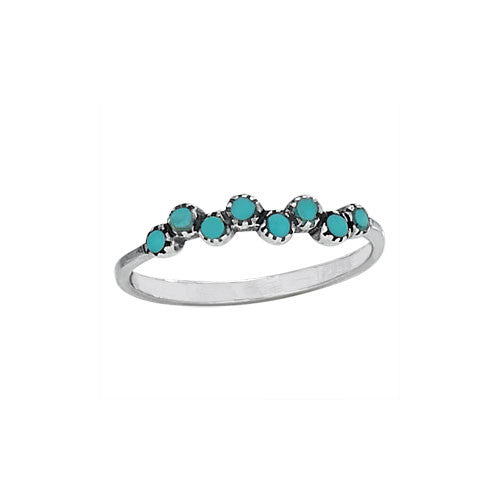 Turquoise Bead Ring, $15 | Sterling Silver | Light Years Jewelry