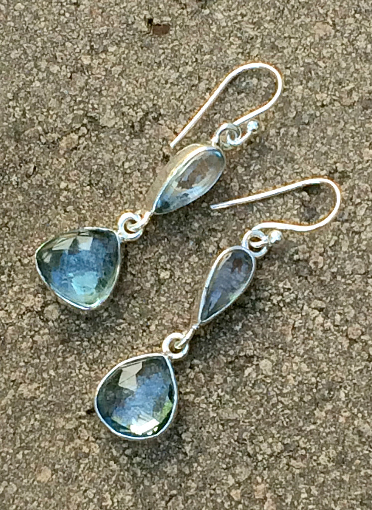 Elegant Blue Topaz Earrings | Sterling Silver | Light Years Jewelry