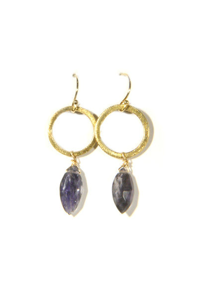 Golden Iolite Dangles, $38 | Handcrafted Vermeil | Light Years Jewelry