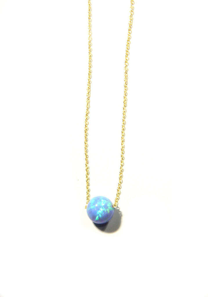 Blue Opal Sphere Necklace | Silver, Gold, Rose Gold | Light Years