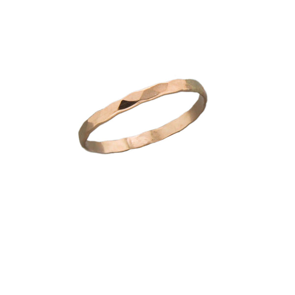 Rose Gold Filled Hammered Band | Sizes 6 7 8 9 | Light Years Jewelry