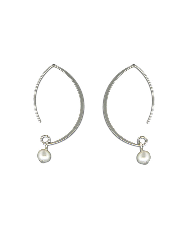 Modern Freshwater Pearl Earrings | Sterling Silver Gold | Light Years