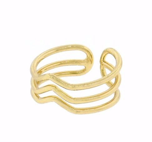 Triple Chevron Ring, $7 | Gold or Silver | Light Years Jewelry