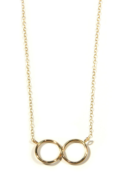Gold Infinity Necklace, $30 | Gold Filled | Light Years Jewelry