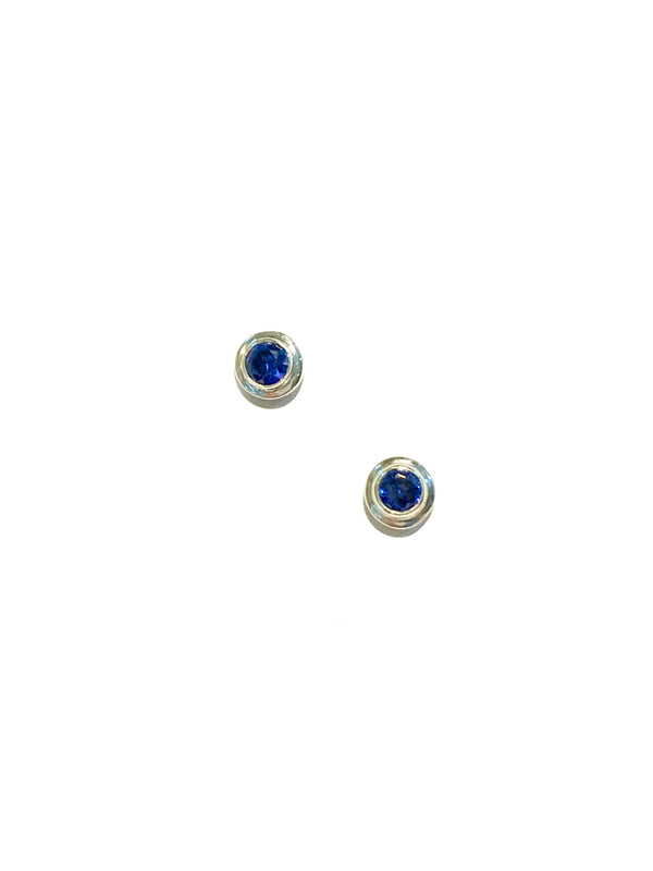 Faceted Iolite Posts | Sterling Silver Studs Earrings Bali | Light Years