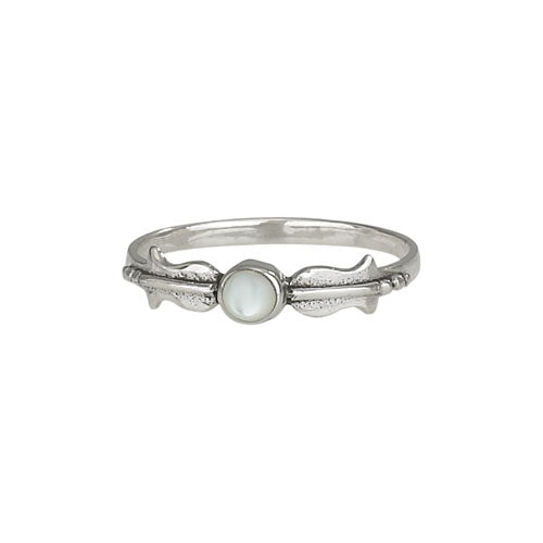 Mother of Pearl Dot Ring, $18 | Sterling Silver | Light Years Jewelry