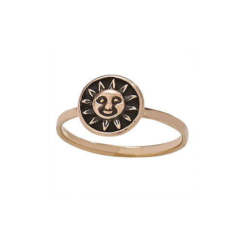 Happy Sun Ring, $12 | Bronze | Sizes 6, 7, 8, 9 | Light Years Jewelry