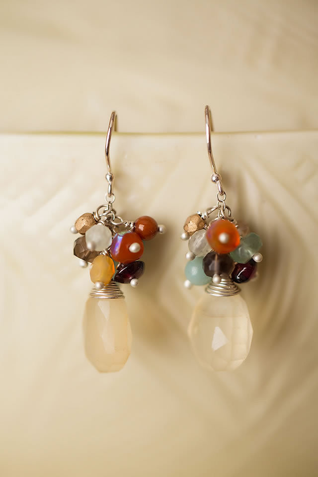 Gentle Breeze Cluster Dangles, $42 | Handmade | Light Years Jewelry