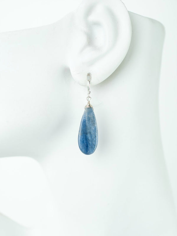 Kyanite Teardrop Earrings | Sterling Silver Stone | Light Years Jewelry
