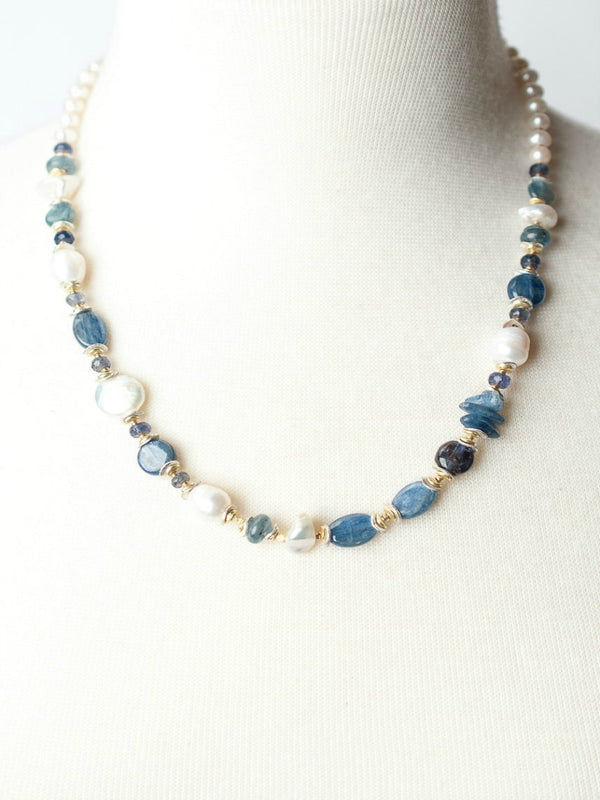 Seaside Collage Beaded Necklace | Gold Filled Handmade | Light Years