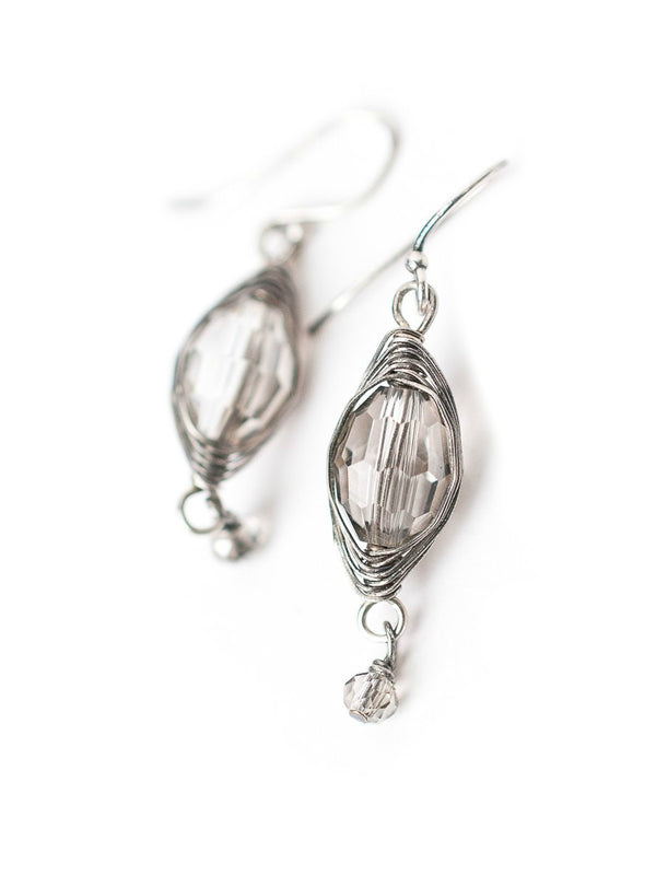 Handmade Crystal Dangles Earrings | Sterling Silver | Light Years Jewelry