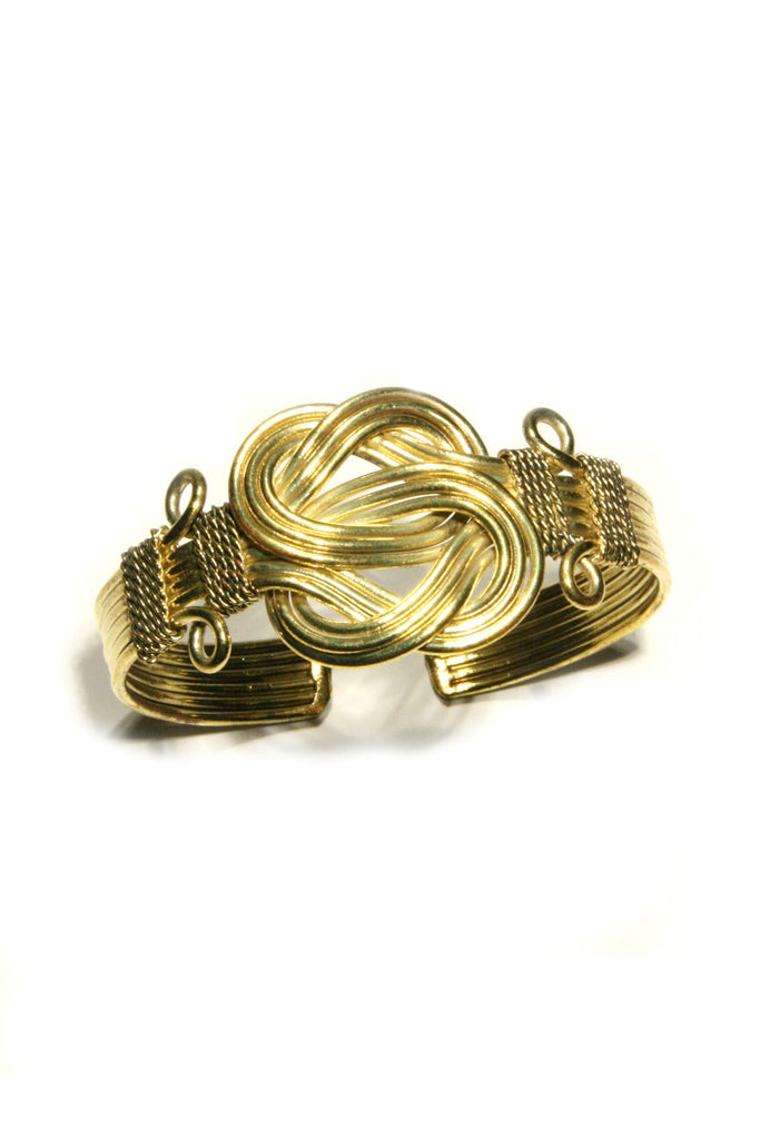 Gold Buddha Knot Cuff, $15 | Light Years Jewelry