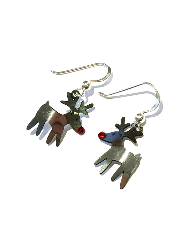 Reindeer Holiday Earrings by Sienna Sky | Sterling Silver | Light Years