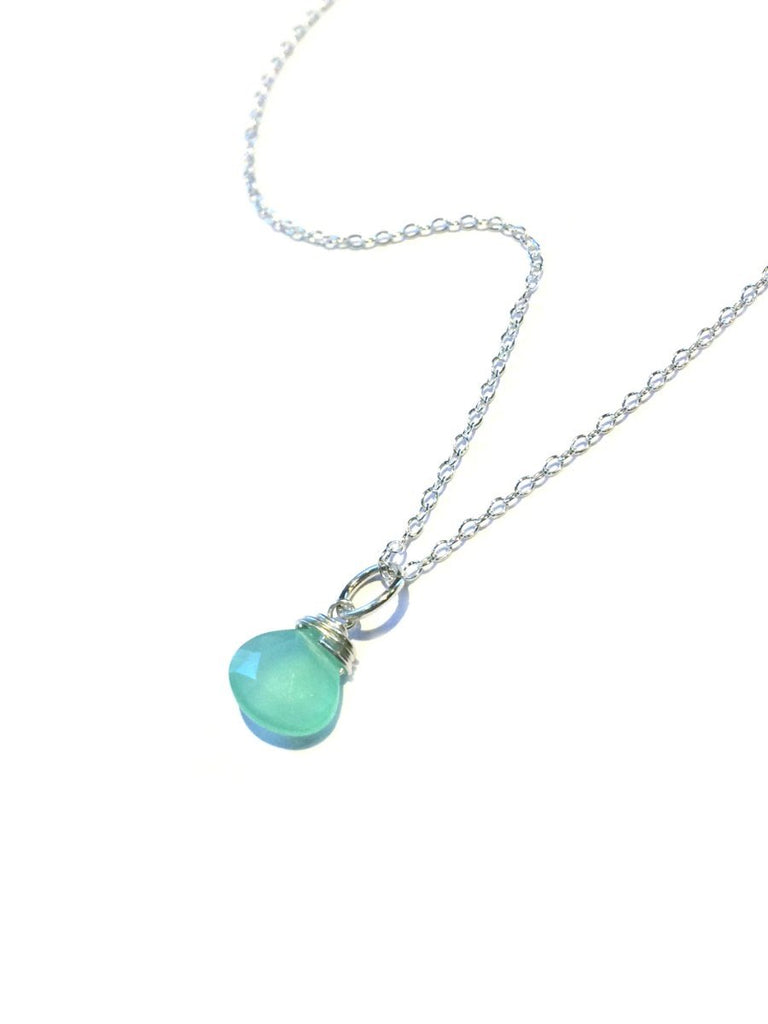 Wrapped Gemstone Necklace | Chalcedony, Spinel | Light Years Jewelry