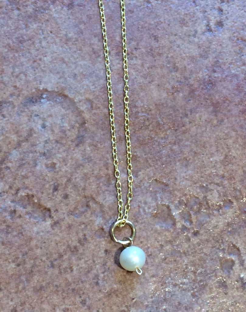 Dainty Pearl Necklace, $18 | Sterling Silver or Gold Fill | Light Years