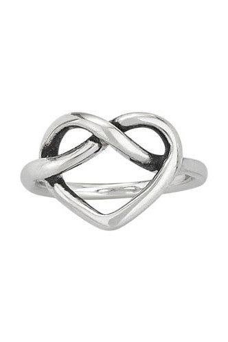 Sterling Silver Heart Knot Ring, $28 | Light Years