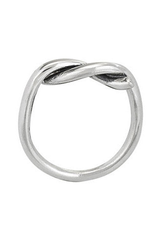 Sterling Silver Perfect Twist Ring, $26 | Light Years Jewelry